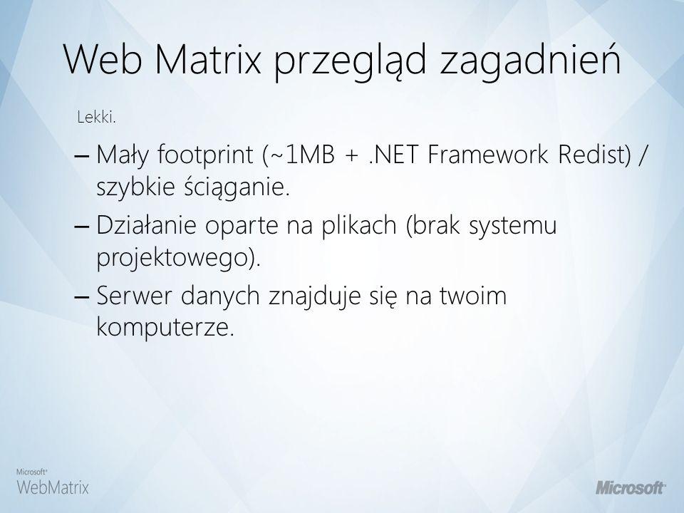 Web Matrix przegląd zagadnień – Control / Add-in / Code builder / Gallery Pickers.