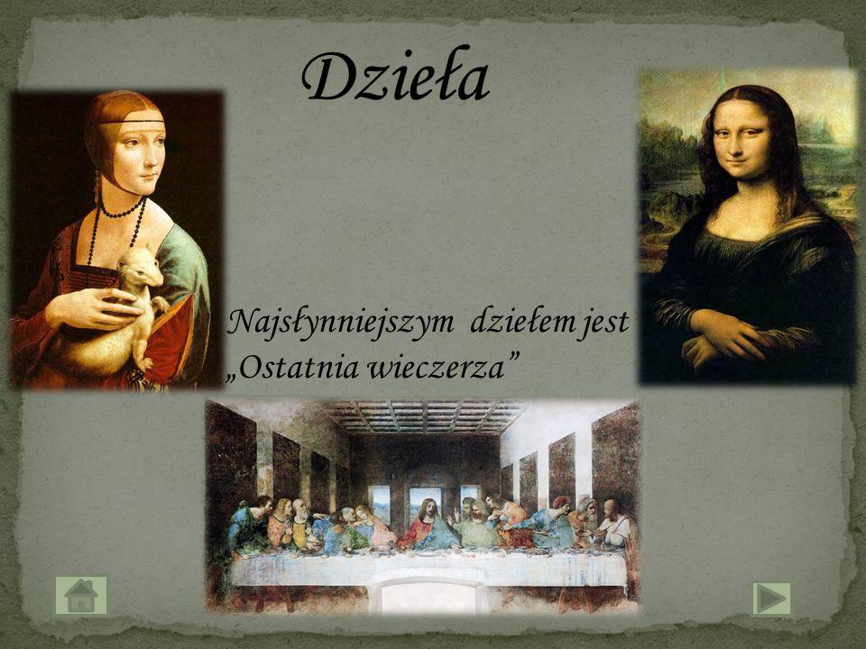 Leonardo da Vinci (urodzony 15 kwietnia 1452 w Vinci w Toskanii, zmarł 2 maja 1519 w Amboise we Francji) - wszechstronnie uzdolniony Włoch: malarz, rzeźbiarz, architekt, konstruktor maszyn, filozof.
