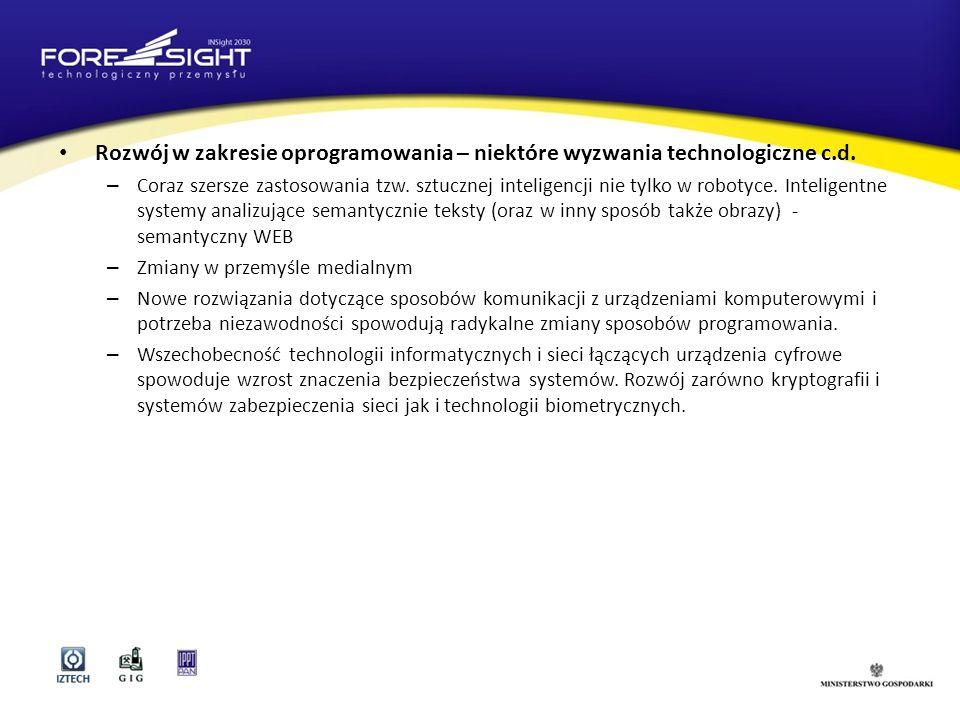 Rozwój w zakresie oprogramowania – niektóre wyzwania technologiczne c.d.