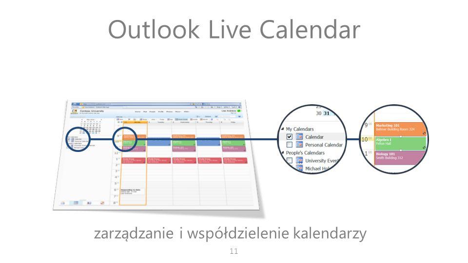 Outlook Live Calendar zarządzanie i współdzielenie kalendarzy 11