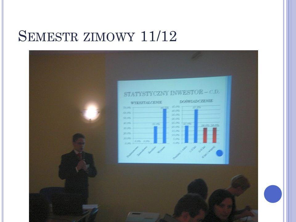 S EMESTR LETNI 11/12 – KONFERENCJA 2 GŁÓWNE OBSZARY TEMATYCZNE: 1.