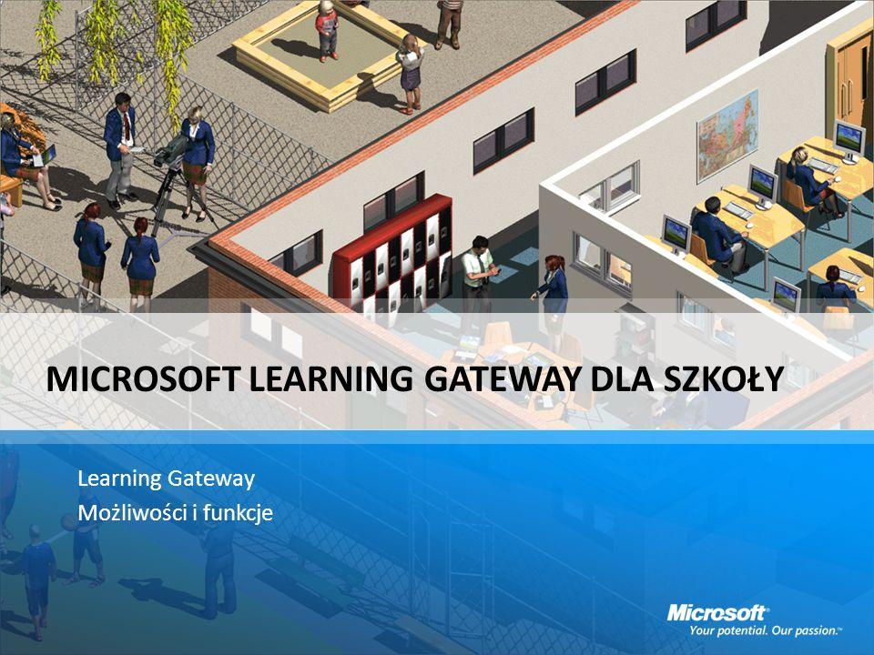 MICROSOFT LEARNING GATEWAY DLA SZKOŁY Learning Gateway Możliwości i funkcje