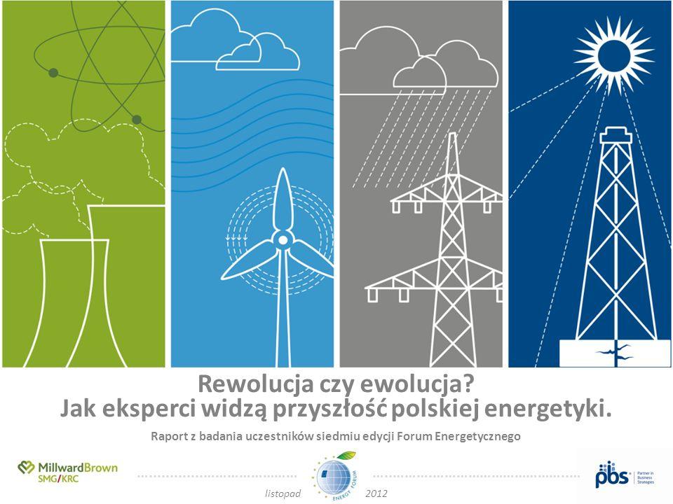 ….............…………………… …..……….……………………………..… listopad 2012 Rewolucja czy ewolucja? Jak eksperci widzą przyszłość polskiej energetyki. Raport z badania
