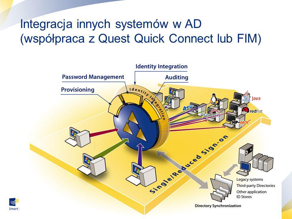 15 Integracja innych systemów w AD (współpraca z Quest Quick Connect lub FIM)