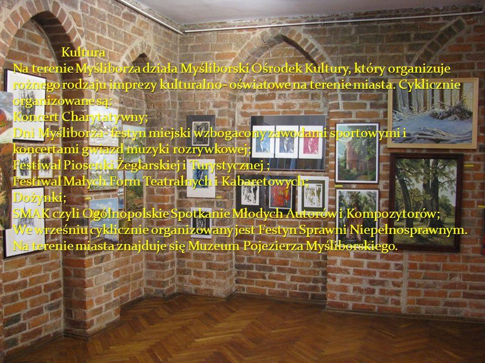Kultura Na terenie Myśliborza działa Myśliborski Ośrodek Kultury, który organizuje rożnego rodzaju imprezy kulturalno- oświatowe na terenie miasta. Cy