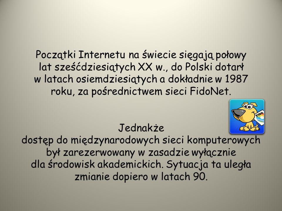 HISTORIA INTERNETU W POLSCE