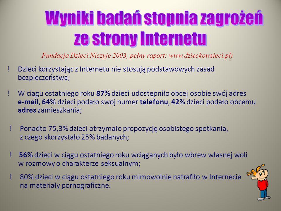 Cyberprzemoc (agresja elektroniczna) to stosowanie przemocy poprzez: prześladowanie, zastraszanie, nękanie, wyśmiewanie innych osób z wykorzystaniem I