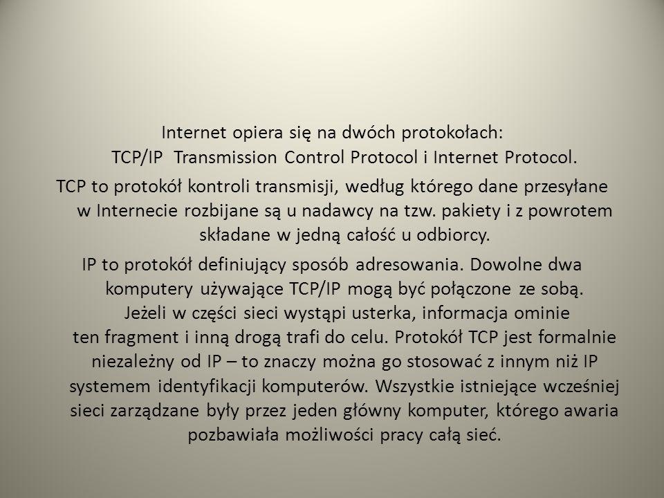 Sieć ARPANET stosowała pierwotnie kilka różnych sposobów identyfikowania komputerów i dopiero prace Jona Postela, na początku lat osiemdziesiątych XX