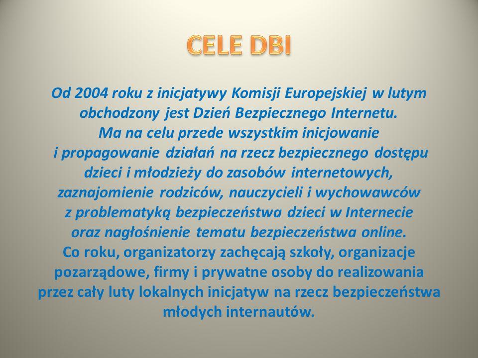 Dzień Bezpiecznego Internetu (DBI) obchodzony jest z inicjatywy Komisji Europejskiej od 2004 roku i ma na celu inicjowanie i propagowanie działań na r