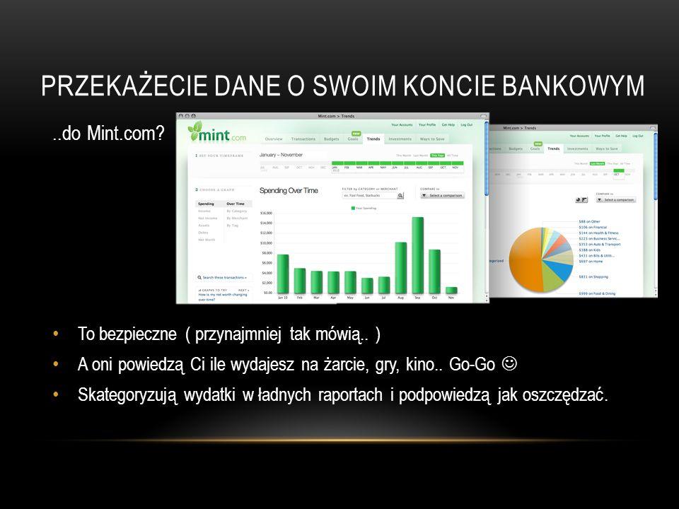 PRZEKAŻECIE DANE O SWOIM KONCIE BANKOWYM..do Mint.com.