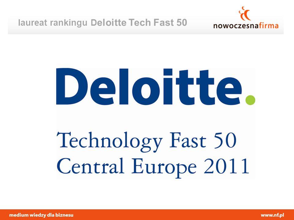 medium wiedzy dla biznesuwww.nf.pl laureat rankingu D eloitte Tech Fast 50