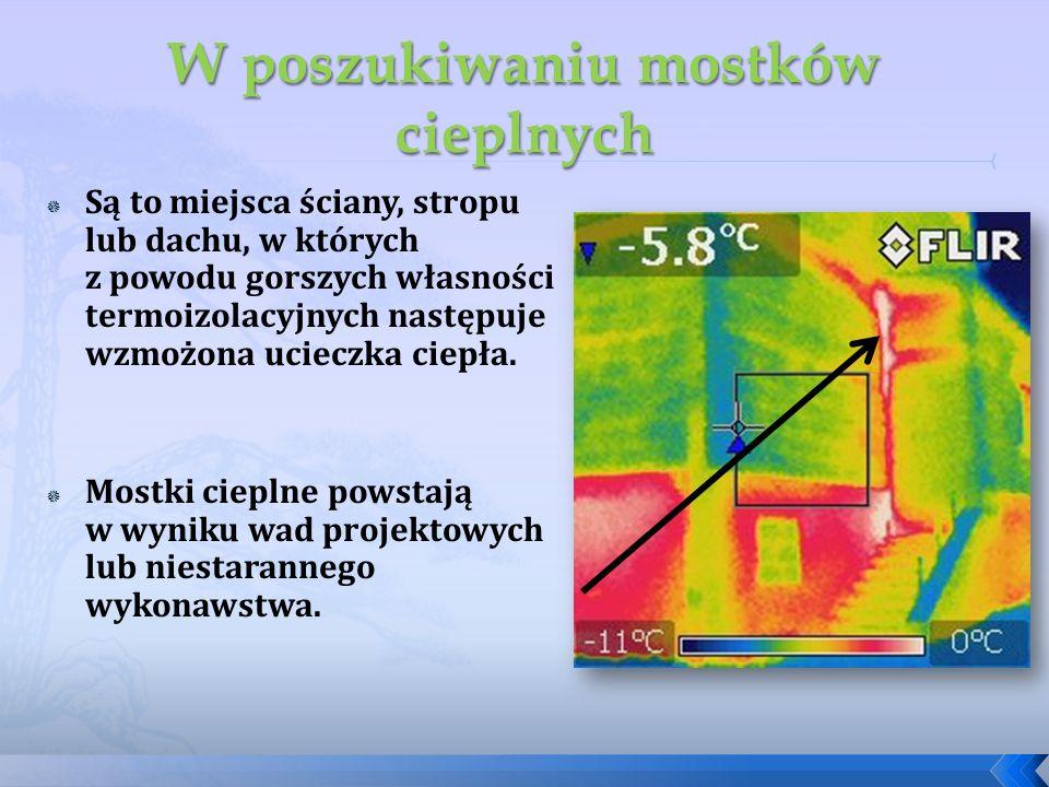 Są to miejsca ściany, stropu lub dachu, w których z powodu gorszych własności termoizolacyjnych następuje wzmożona ucieczka ciepła. Mostki cieplne pow