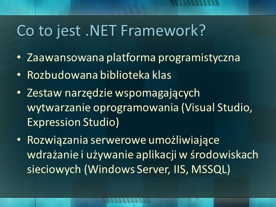 Po co jest.NET.