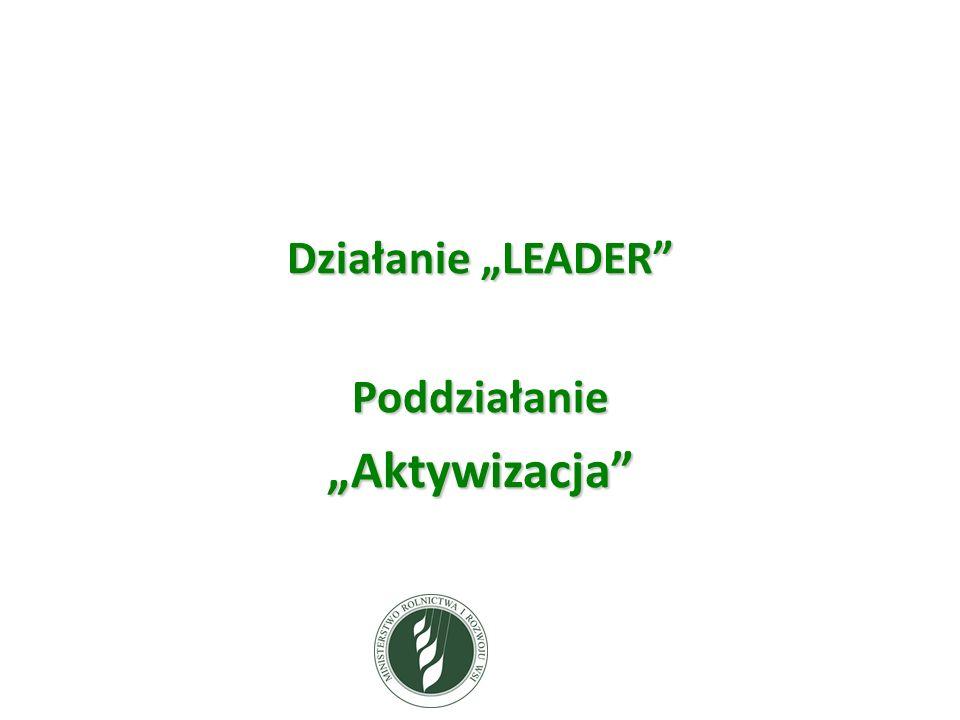 Działanie LEADER PoddziałanieAktywizacja