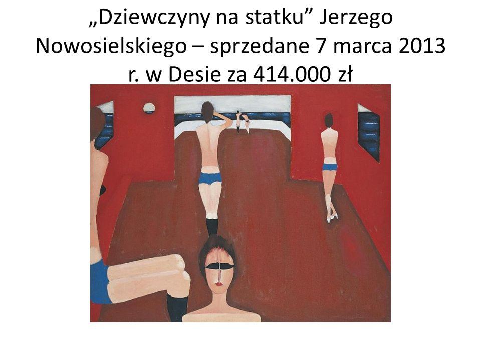 Dziewczyny na statku Jerzego Nowosielskiego – sprzedane 7 marca 2013 r. w Desie za 414.000 zł