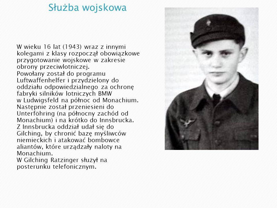 W wieku 16 lat (1943) wraz z innymi kolegami z klasy rozpoczął obowiązkowe przygotowanie wojskowe w zakresie obrony przeciwlotniczej. Powołany został
