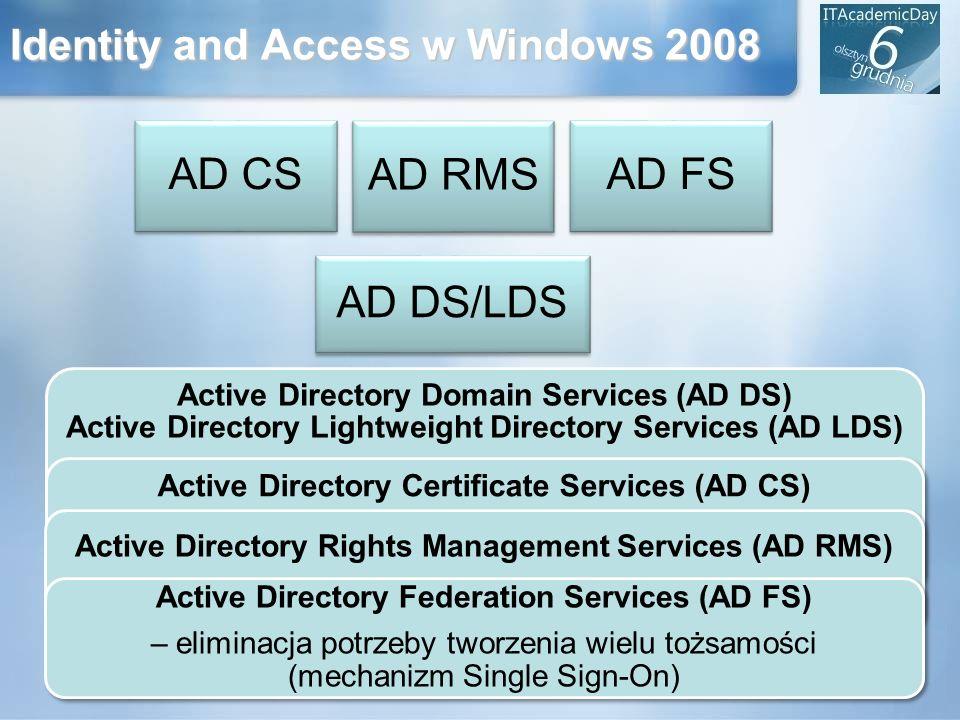 Active Directory Certificate Services (AD CS) – uwierzytelnianie z wykorzystaniem podpisu cyfrowego (infrastruktura PKI) Identity and Access w Windows