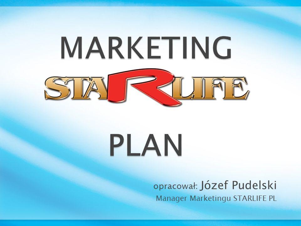 PLAN Korzyści z systemu marketingowego: STARLIFE BONUS 26% Otrzymujemy ze struktury wielo- poziomowej na miesiąc : BONUS = 500 zł Otrzymujemy ze struktury wielo- poziomowej na miesiąc : BONUS = 500 zł Przykład: