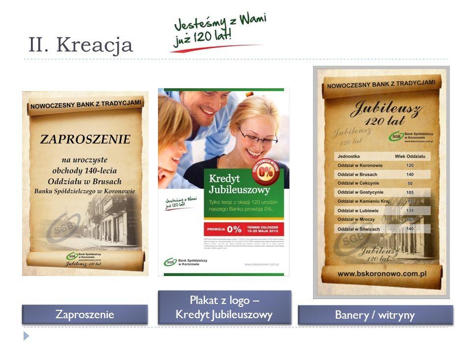 II. Kreacja Zaproszenie Plakat z logo – Kredyt Jubileuszowy Banery / witryny
