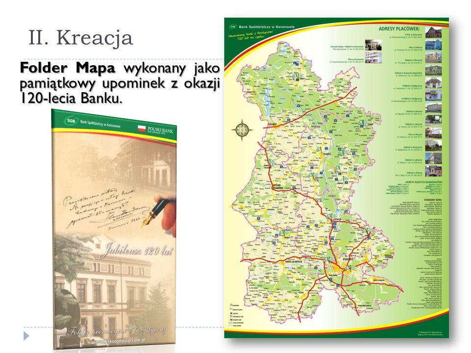 II. Kreacja Folder Mapa wykonany jako pamiątkowy upominek z okazji 120-lecia Banku.