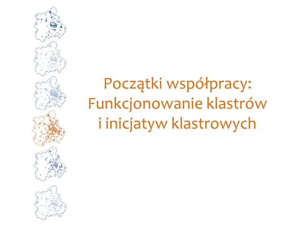 Początki współpracy: Funkcjonowanie klastrów i inicjatyw klastrowych