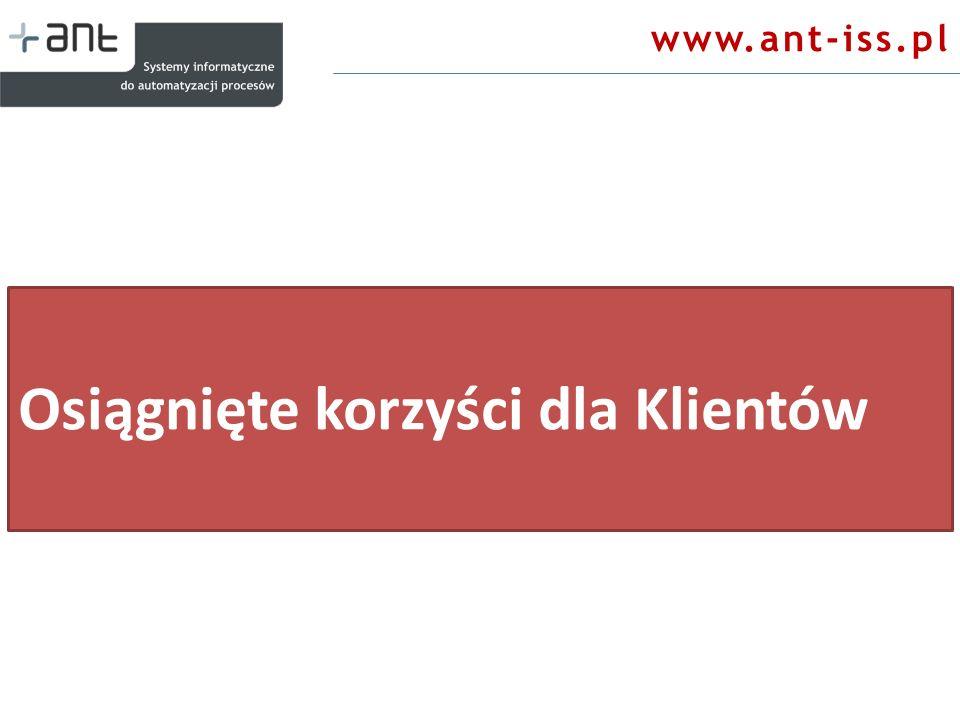 www.ant-iss.pl Osiągnięte korzyści dla Klientów