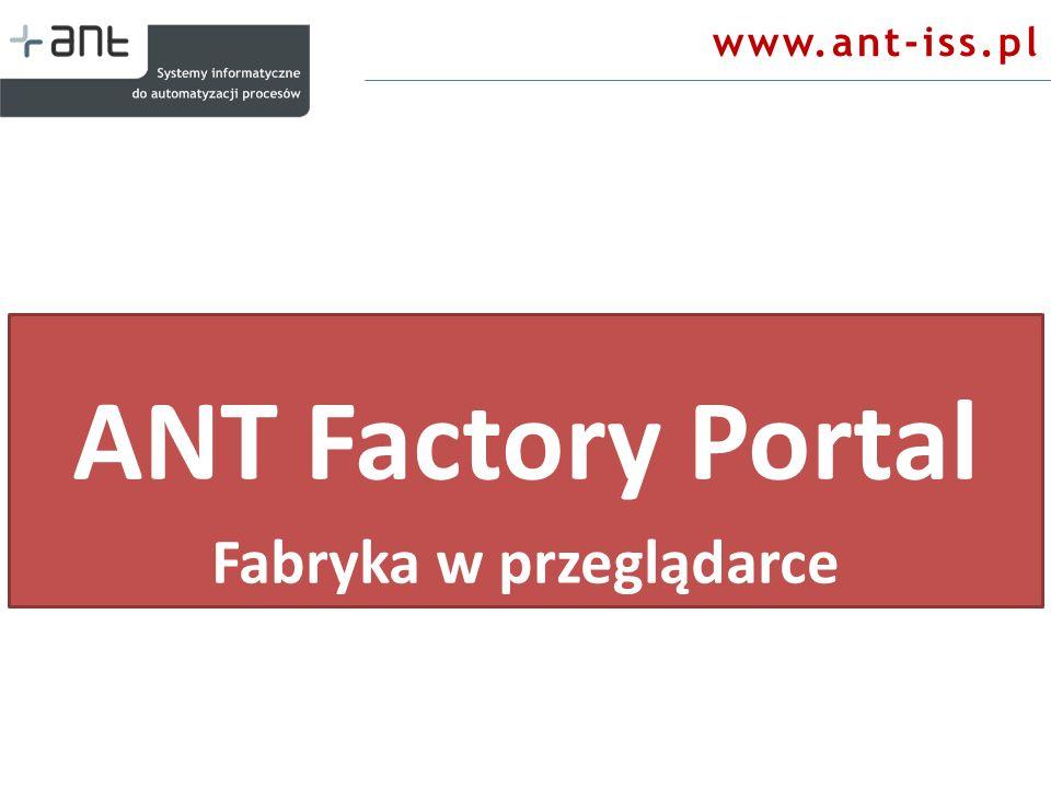 www.ant-iss.pl ANT Factory Portal Fabryka w przeglądarce