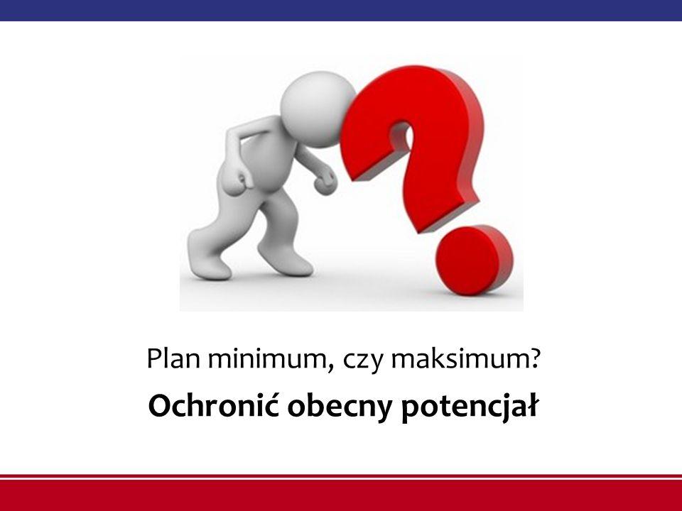 Plan minimum, czy maksimum? Ochronić obecny potencjał