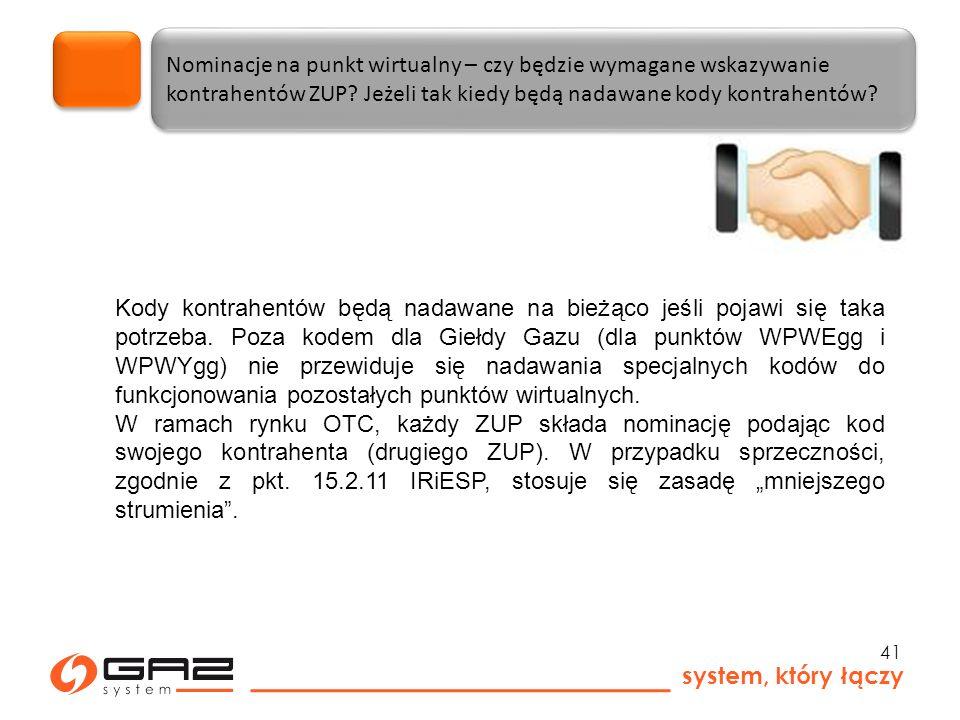 system, który łączy 41 Nominacje na punkt wirtualny – czy będzie wymagane wskazywanie kontrahentów ZUP.