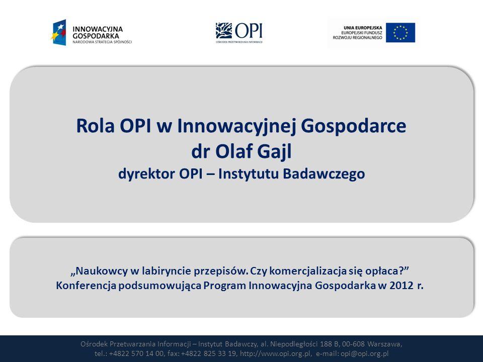 Ośrodek Przetwarzania Informacji – Instytut Badawczy, al.