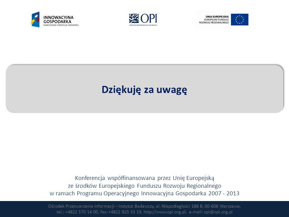 Ośrodek Przetwarzania Informacji – Instytut Badawczy, al. Niepodległości 188 B, 00-608 Warszawa, tel.: +4822 570 14 00, fax: +4822 825 33 19, http://w