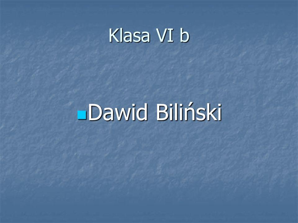 Klasa VI b Dawid Biliński Dawid Biliński