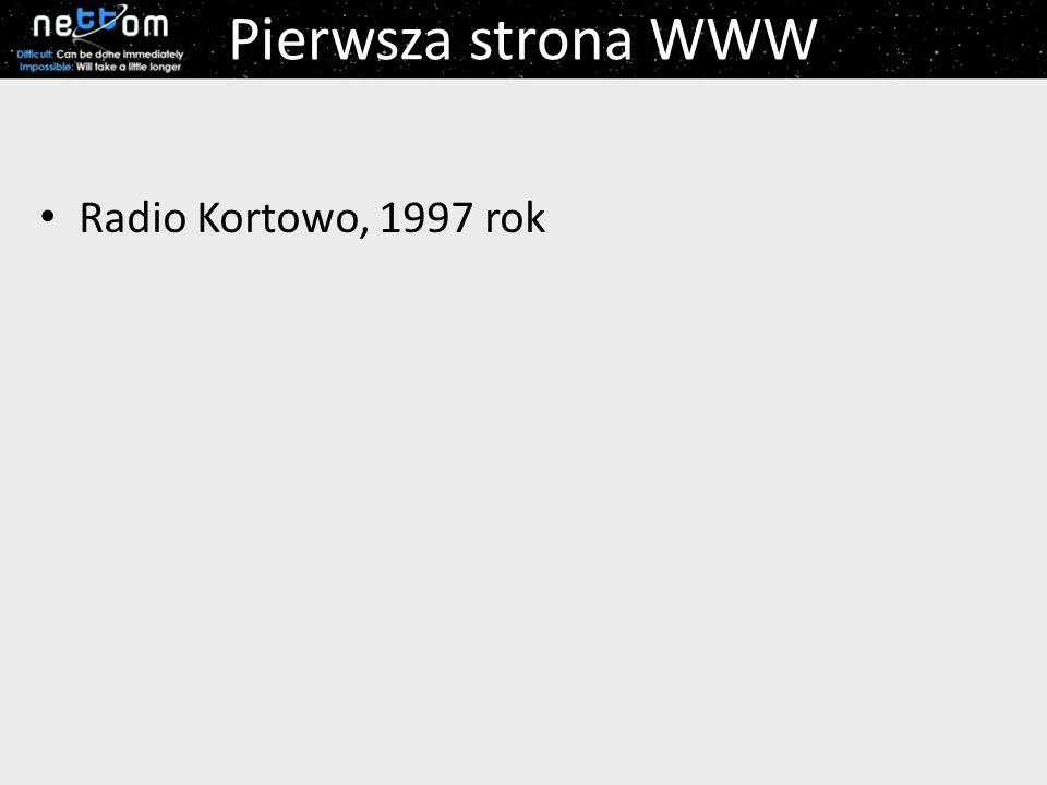 Pierwsza strona WWW Radio Kortowo, 1997 rok