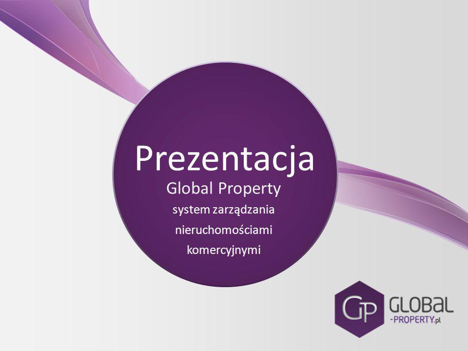 Prezentacja Global Property system zarządzania nieruchomościami komercyjnymi