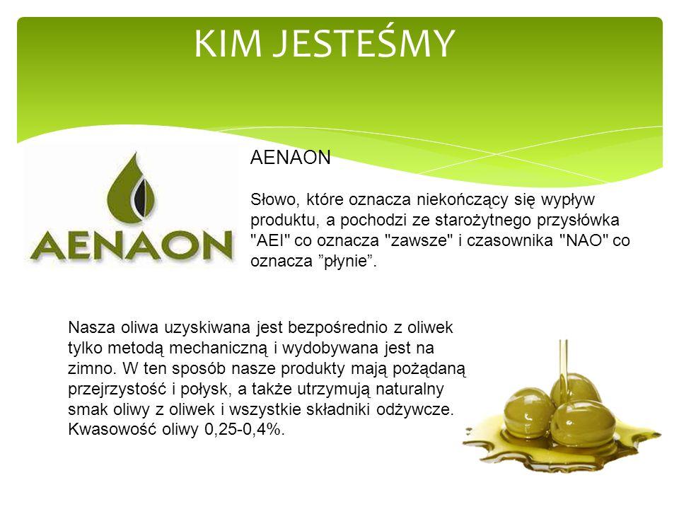 www.Special4u.eu KIM JESTEŚMY Istotną rzeczą jest to, że oliwa ta butelkowana jest w Grecji, bezpośrednio u producenta, co daje nam pewność, iż jest to sam sok z oliwek-bez domieszek innych olei roślinnych, a szklane butelki różnego rozmiaru-100ml, 250ml, 500ml, 750ml, 1000ml, w które jest ona rozlewana, zadowolą każdego klienta.