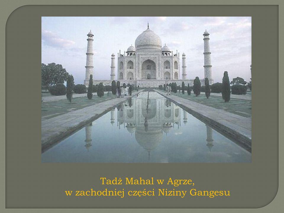 Tadż Mahal w Agrze, w zachodniej części Niziny Gangesu