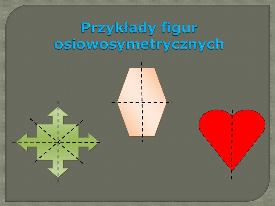 Przykłady figur mających jedną oś symetrii