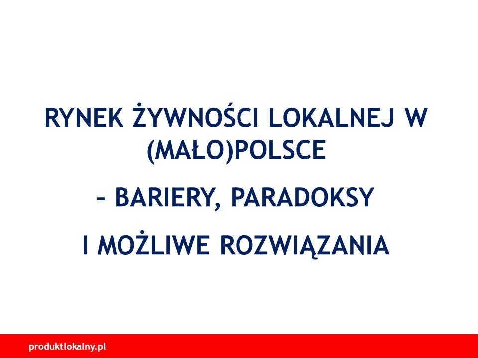 produktlokalny.pl RYNEK ŻYWNOŚCI LOKALNEJ W (MAŁO)POLSCE – BARIERY, PARADOKSY I MOŻLIWE ROZWIĄZANIA