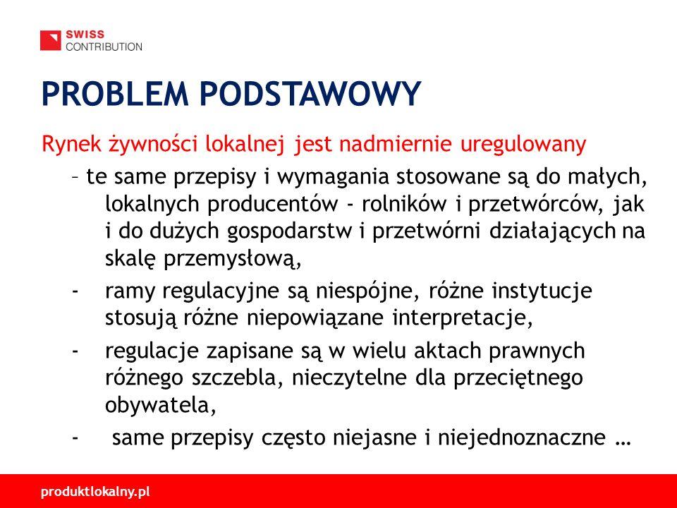 produktlokalny.pl Rynek żywności lokalnej jest nadmiernie uregulowany – te same przepisy i wymagania stosowane są do małych, lokalnych producentów - r
