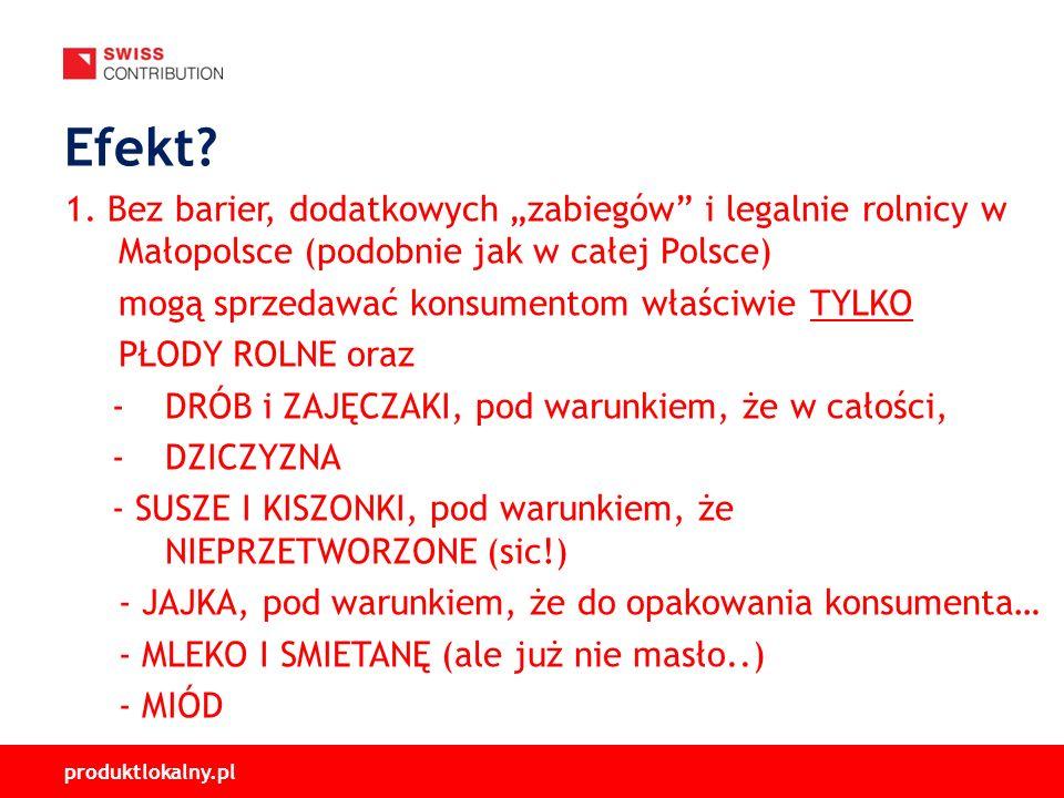 produktlokalny.pl 1. Bez barier, dodatkowych zabiegów i legalnie rolnicy w Małopolsce (podobnie jak w całej Polsce) mogą sprzedawać konsumentom właści