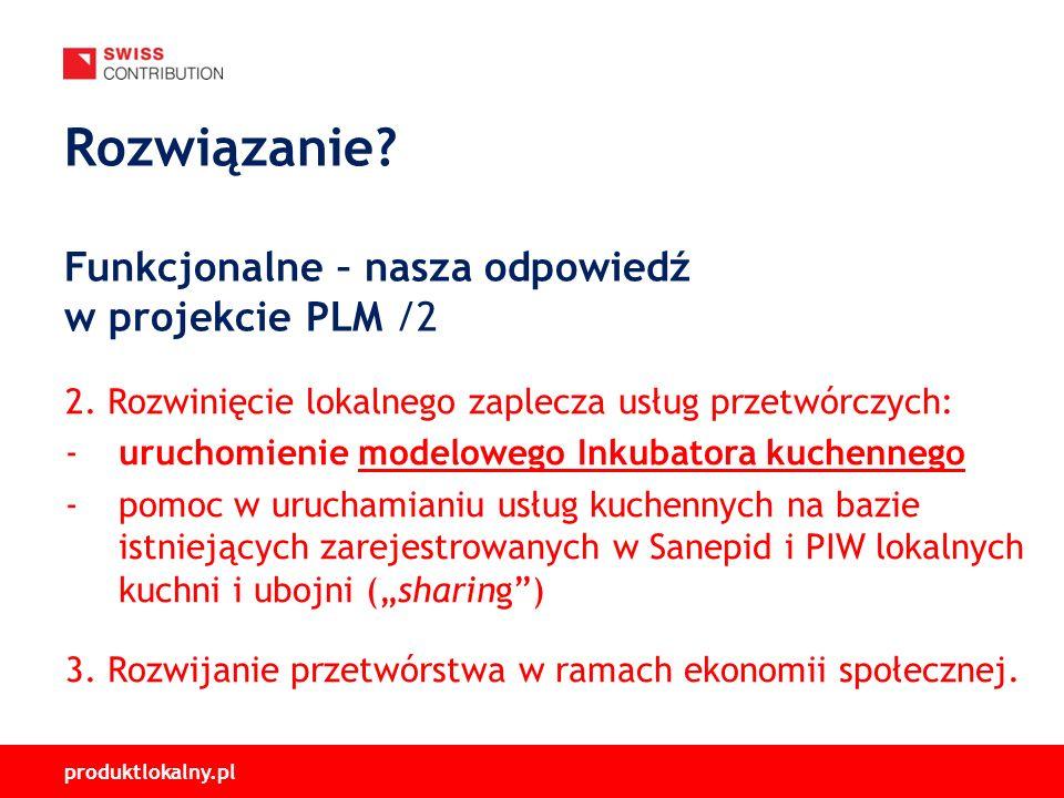 produktlokalny.pl 2. Rozwinięcie lokalnego zaplecza usług przetwórczych: -uruchomienie modelowego Inkubatora kuchennego -pomoc w uruchamianiu usług ku