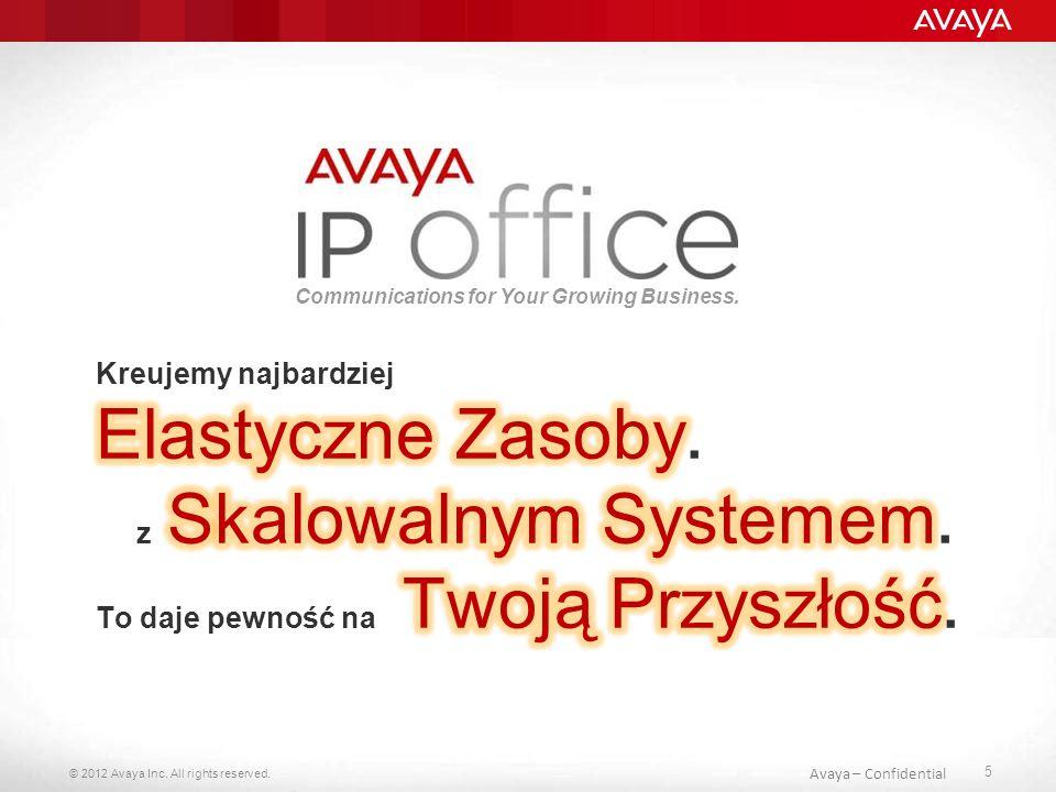 © 2012 Avaya Inc.All rights reserved. 56 Avaya - Confidential Co w przyszłości..