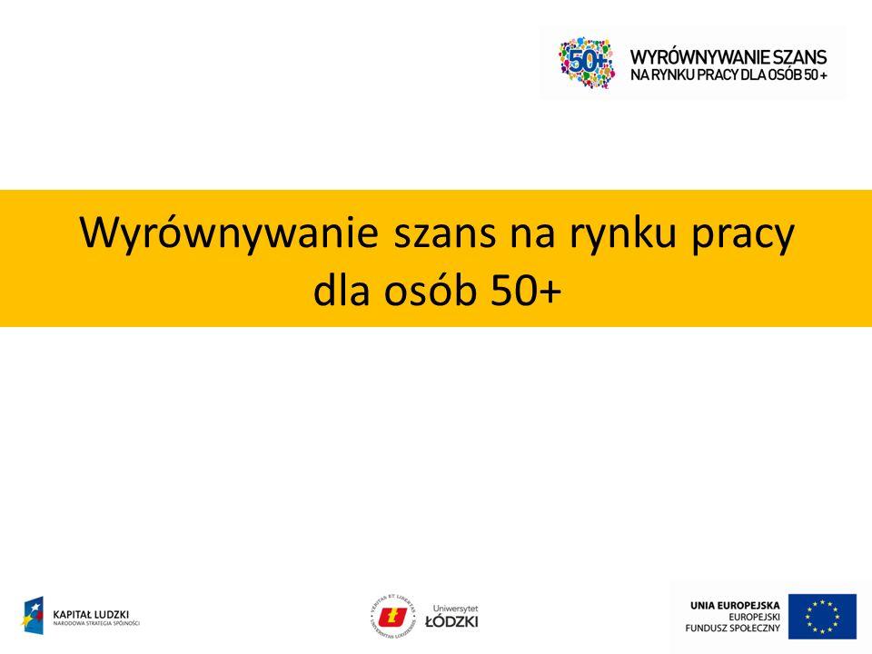 Wyrównywanie szans na rynku pracy dla osób 50+