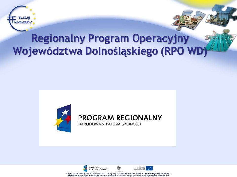 Regionalny Program Operacyjny Województwa Dolnośląskiego (RPO WD)