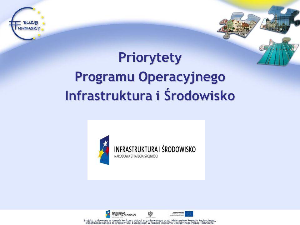 Priorytety Programu Operacyjnego Infrastruktura i Środowisko