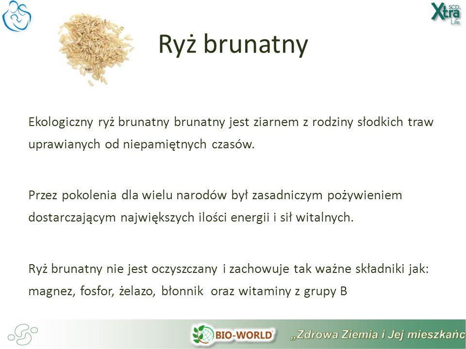 Ekologiczny ryż brunatny brunatny jest ziarnem z rodziny słodkich traw uprawianych od niepamiętnych czasów.
