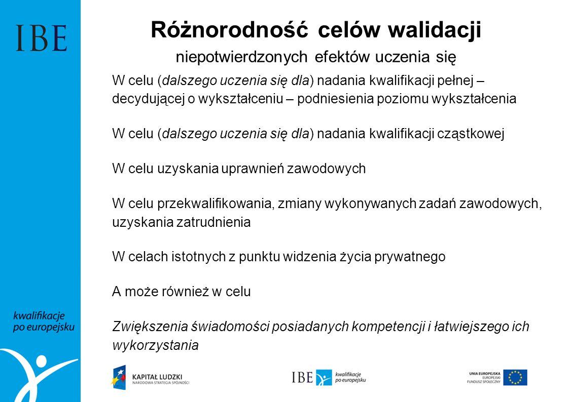 Czy w Polsce potrzebne jest potwierdzanie efektów uczenia się w innym celu niż nadanie kwalifikacji pełnych.
