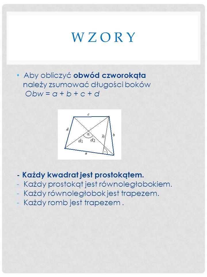 K W A D R A T Kwadratem - nazywamy taki czworokąt, który ma wszystkie boki i kąty równe.