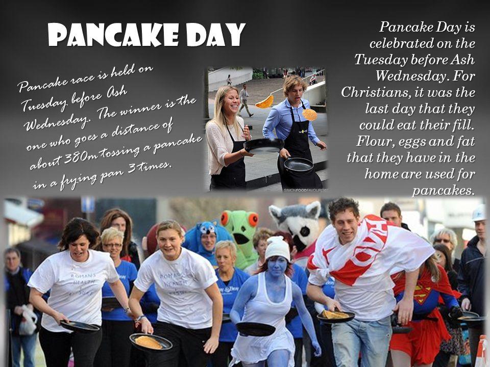 Pancake Day We wtorek przed środą popielcową. Dla chrześcijan był to ostatni dzień, w którym mogli się najeść do syta. Mąkę, jaja i tłuszcz, który mie