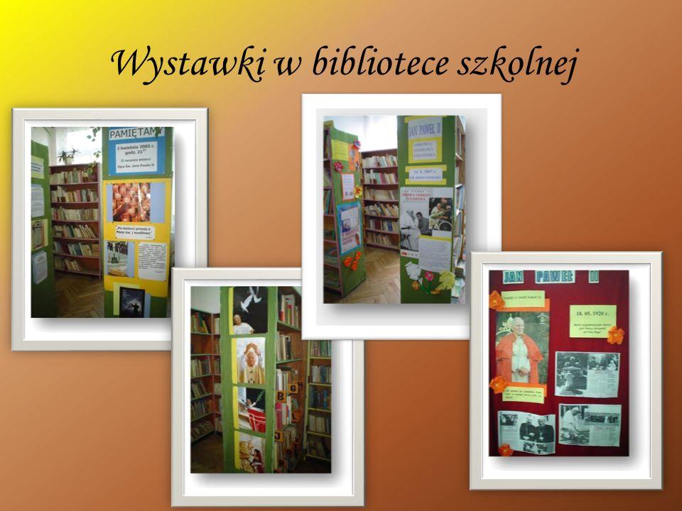 Wystawki w bibliotece szkolnej